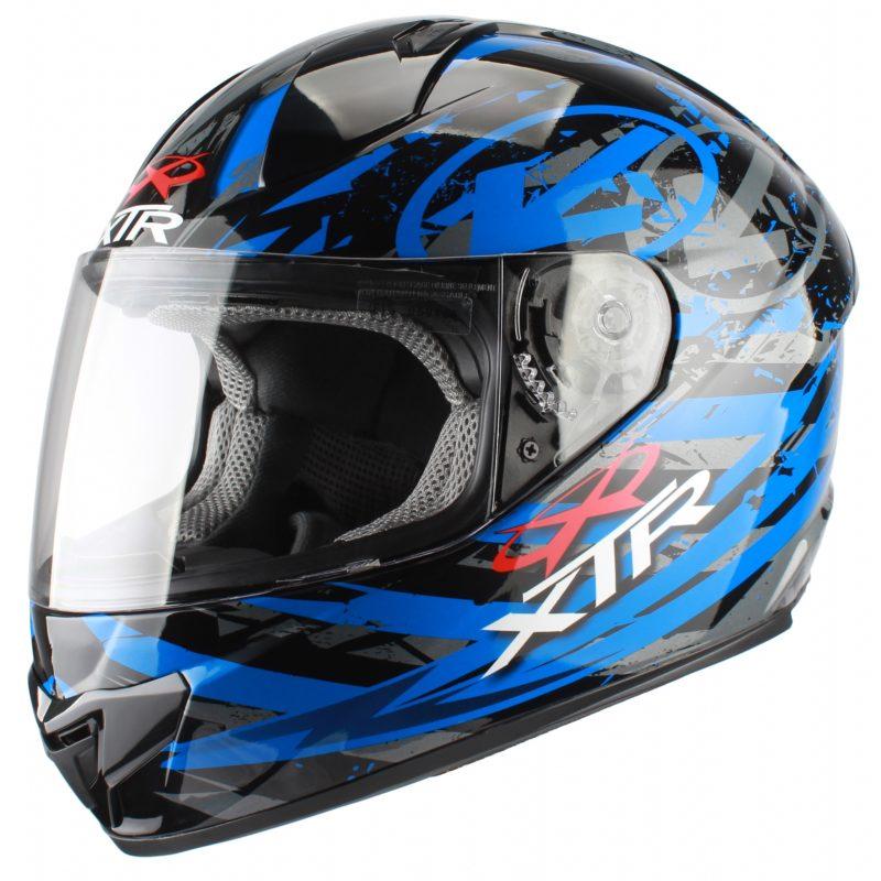 Шлем интеграл FFE1 Hazard Graphic синий фото 1