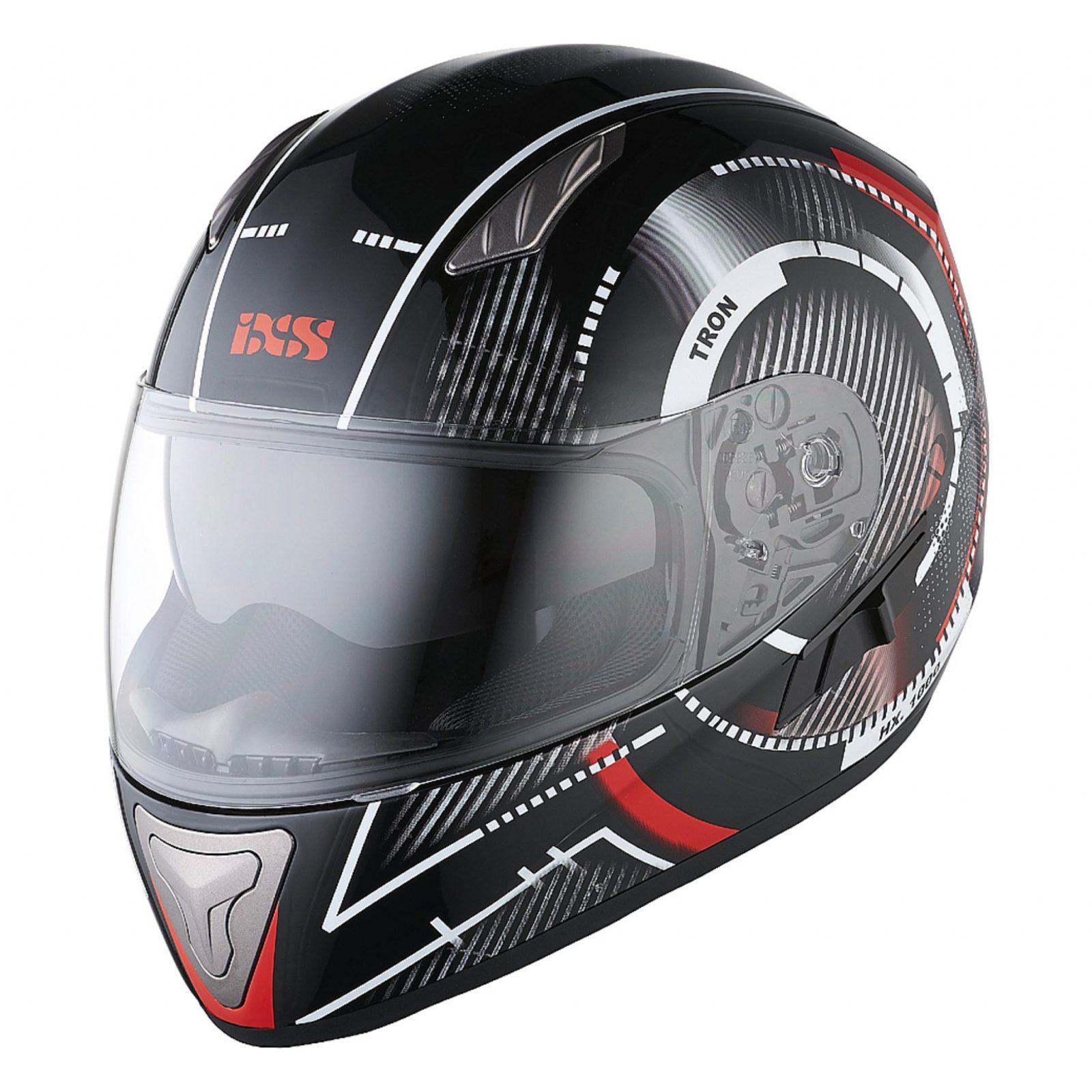 Шлем интеграл HX 1000 Tron черно-красный фото 1