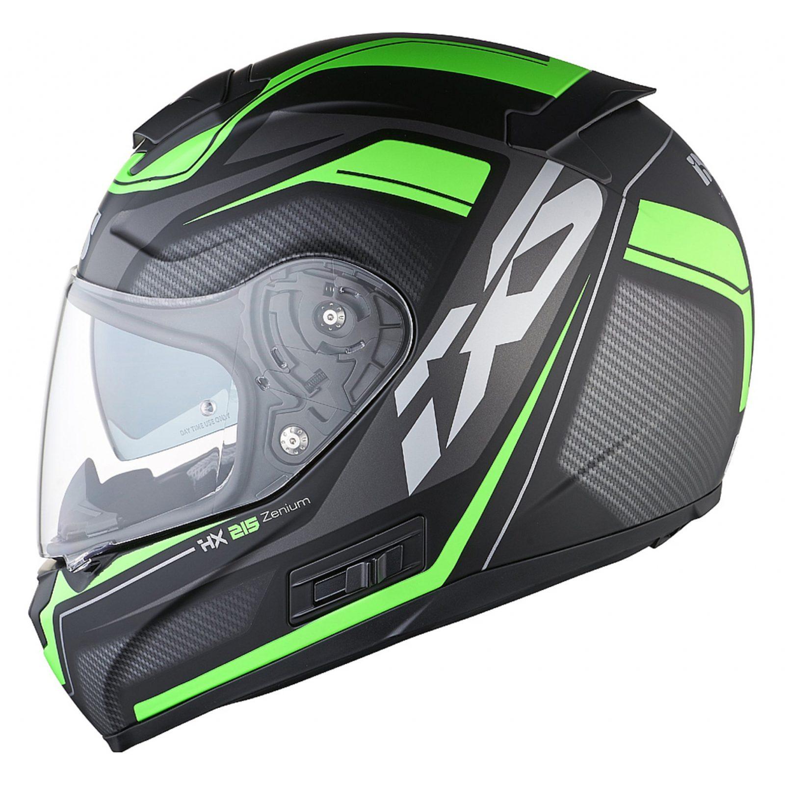 Шлем интеграл HX 215 Zenium черно-зеленый фото 3