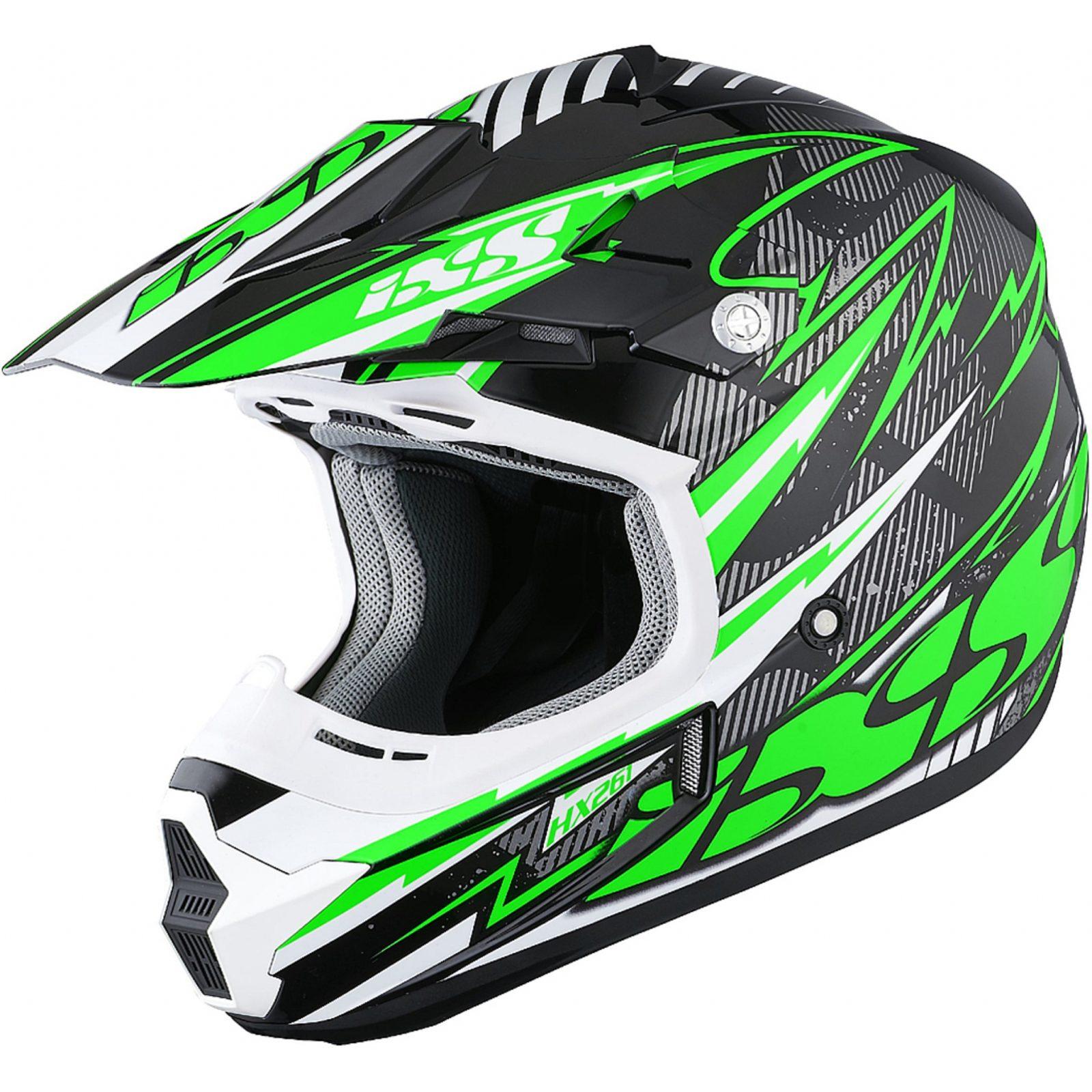Шлем кроссовый HX 261 THUNDER зеленый фото 1