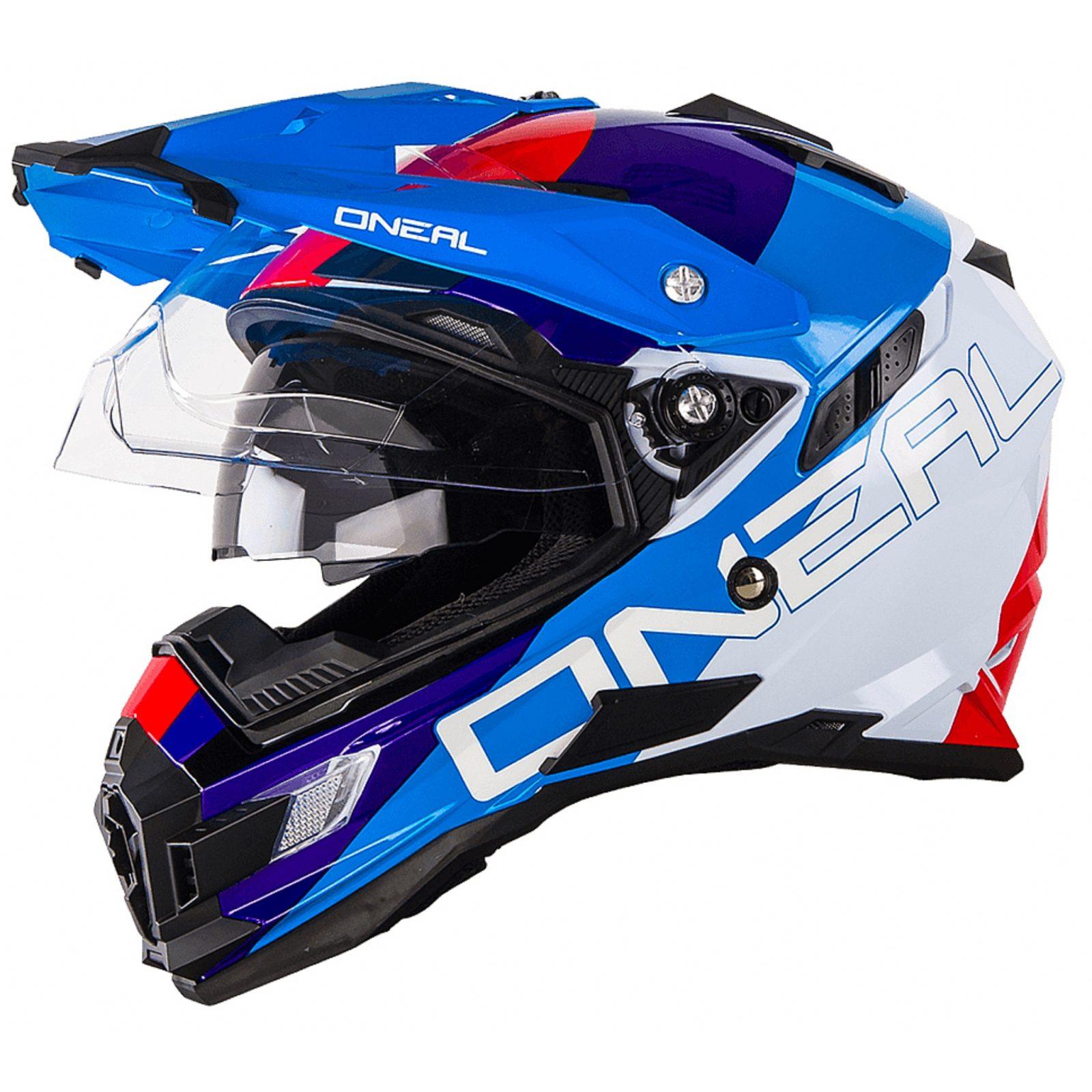 Шлем Sierra Adventure Helmet EDGE красный/синий/белый фото 2