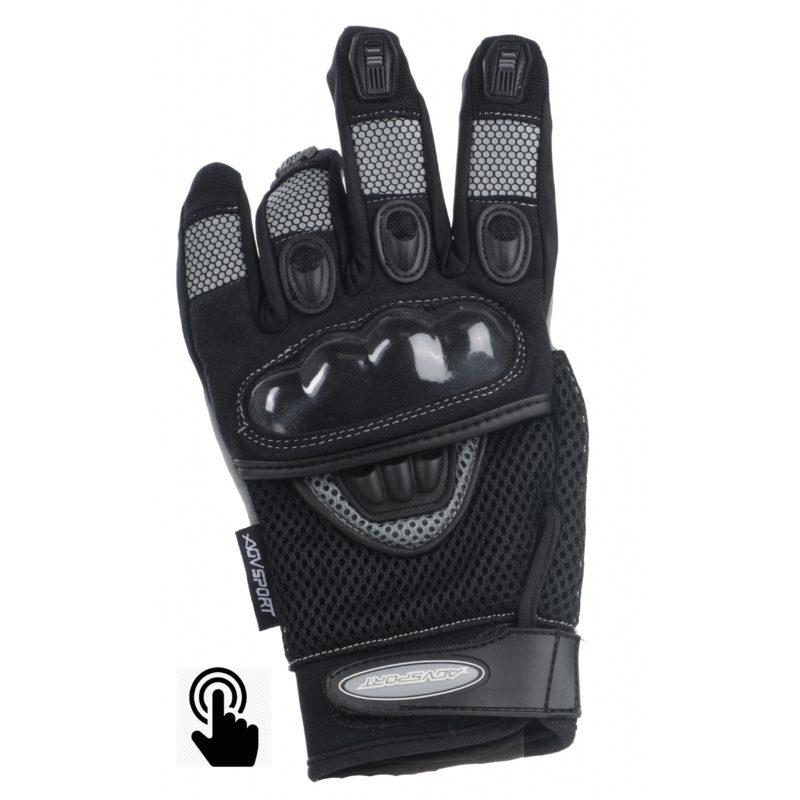 Текстильные перчатки Mayhem touch черные фото 1