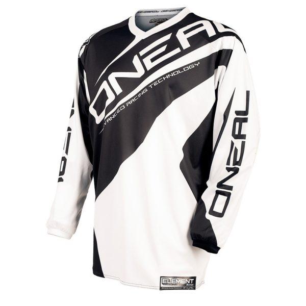 Джерси Element RACEWEAR чёрно-белая фото 1