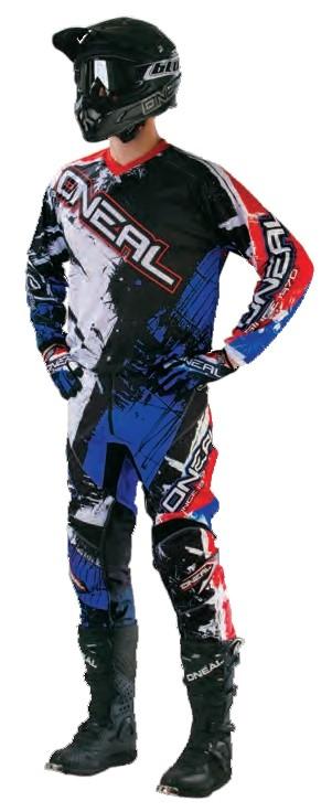 Джерси Element SHOCKER чёрно-красно-синяя фото 2