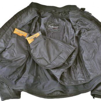 Кожаная куртка Corsa черная фото 2