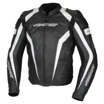 Кожаная куртка Corsa черно-белая фото 1