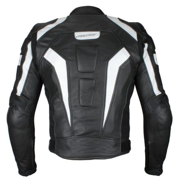 Кожаная куртка Corsa черно-белая фото 2