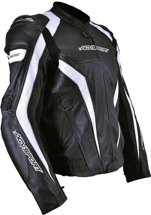Кожаная куртка Corsa черно-белая фото 3