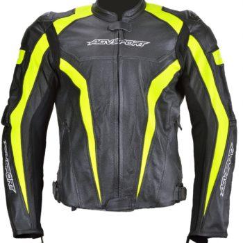 Кожаная куртка Corsa черно-желтая фото 1