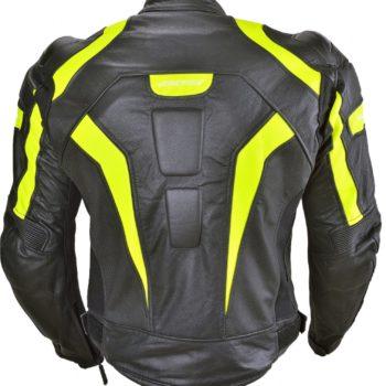 Кожаная куртка Corsa черно-желтая фото 2