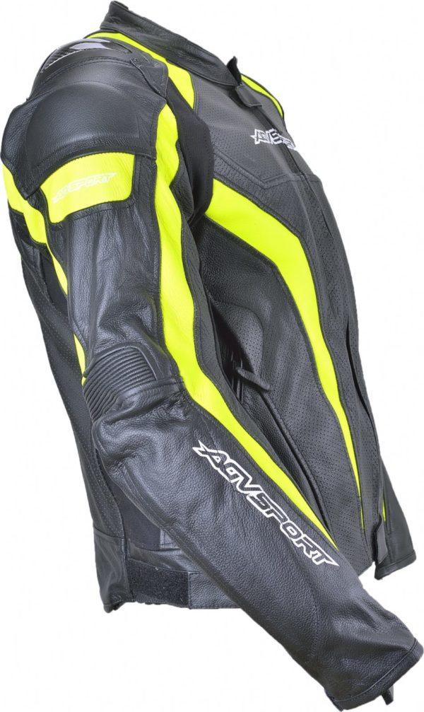 Кожаная куртка Corsa черно-желтая фото 3