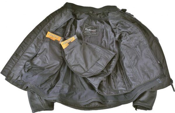 Кожаная куртка Corsa черно-желтая фото 4