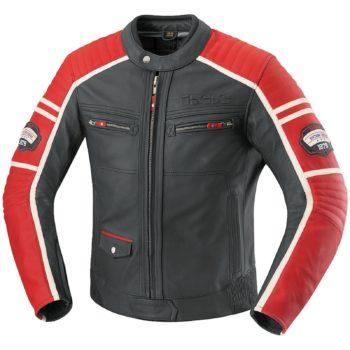 Кожаная куртка Curtis черно-красная фото 1