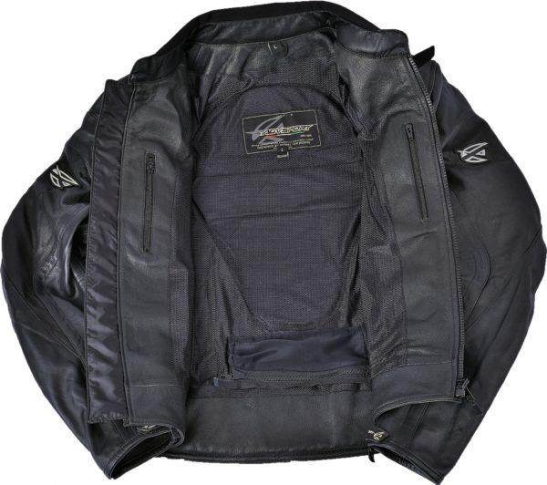 Кожаная мото куртка Breeze фото 3