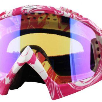 Кроссовая маска B-Flex Goggle HENDRIX бело-розовая/радиум фото 1