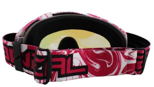 Кроссовая маска B-Flex Goggle HENDRIX бело-розовая/радиум фото 2
