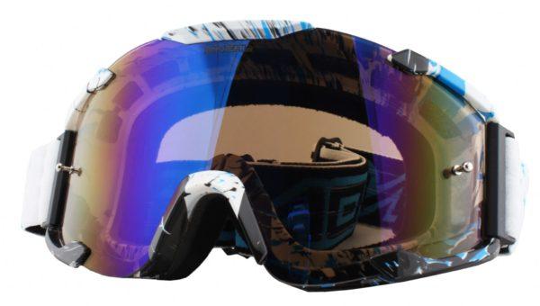 Кроссовая маска B2 RL Goggle SPRAY белая/радиум фото 1