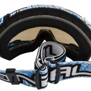 Кроссовая маска B2 RL Goggle SPRAY белая/радиум фото 2