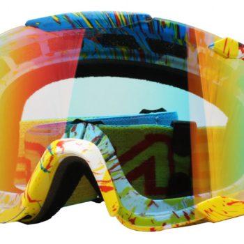 Кроссовая маска B2 RL Goggle SPRAY голубая/радиум фото 1