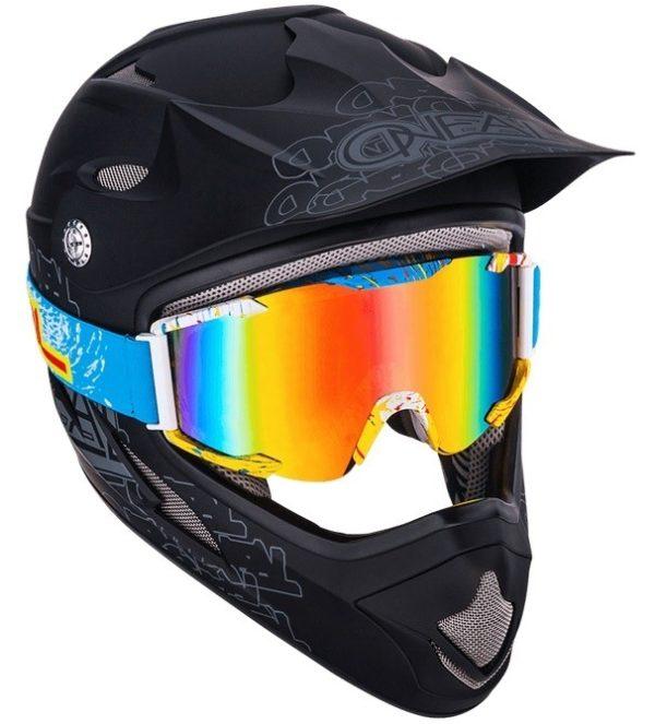 Кроссовая маска B2 RL Goggle SPRAY голубая/радиум фото 2