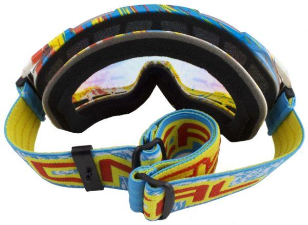 Кроссовая маска B2 RL Goggle SPRAY голубая/радиум фото 3