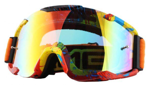Кроссовая маска B2 RL Goggle SPRAY оранжевая/радиум фото 1
