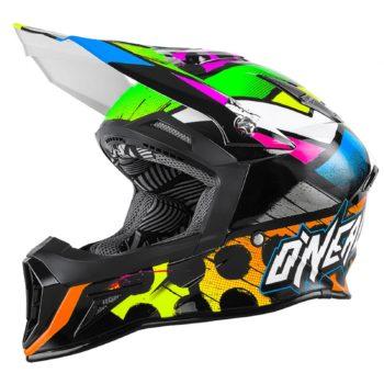 Кроссовый шлем 10 Series GLITCH чёрный/цветной фото 1