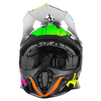 Кроссовый шлем 10 Series GLITCH чёрный/цветной фото 2