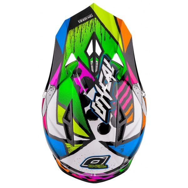 Кроссовый шлем 10 Series GLITCH чёрный/цветной фото 3