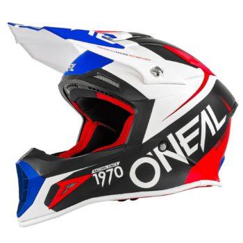Кроссовый шлем 10Series FLOW красно-синий фото 1