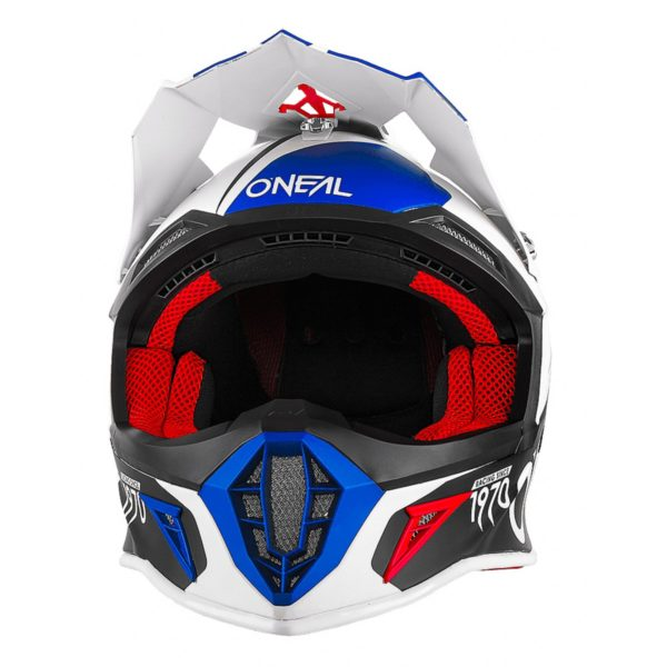 Кроссовый шлем 10Series FLOW красно-синий фото 2