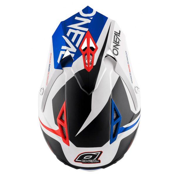 Кроссовый шлем 10Series FLOW красно-синий фото 3