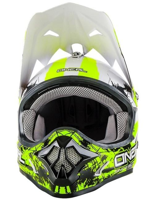 Кроссовый шлем 3Series SHOCKER чёрно-желтый неон фото 2