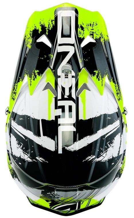 Кроссовый шлем 3Series SHOCKER чёрно-желтый неон фото 3