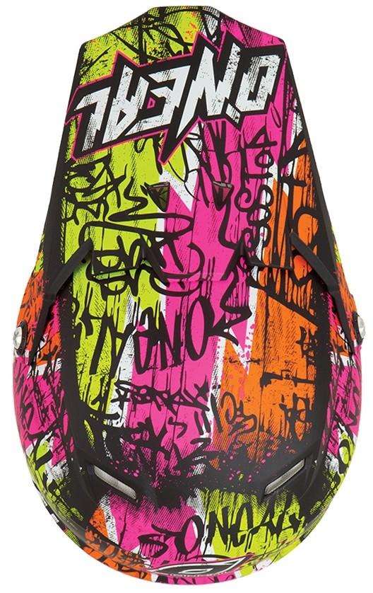 Кроссовый шлем 5Series VANDAL чёрно-желтый неон фото 2