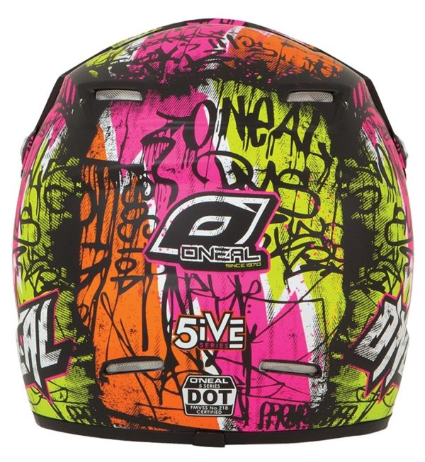 Кроссовый шлем 5Series VANDAL чёрно-желтый неон фото 3