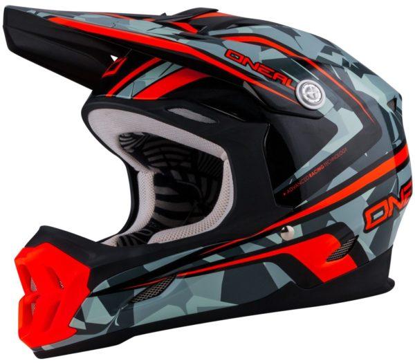 Кроссовый шлем 7Series CAMO серый/оранжевый фото 1