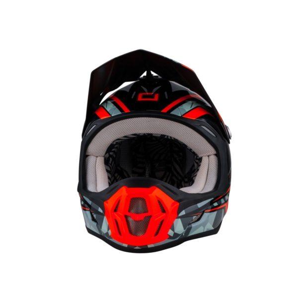 Кроссовый шлем 7Series CAMO серый/оранжевый фото 2