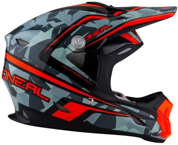 Кроссовый шлем 7Series CAMO серый/оранжевый фото 3