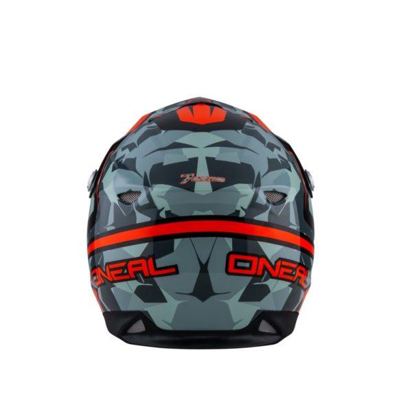 Кроссовый шлем 7Series CAMO серый/оранжевый фото 4