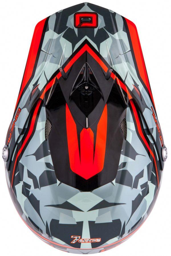 Кроссовый шлем 7Series CAMO серый/оранжевый фото 5