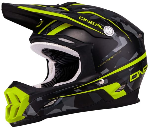 Кроссовый шлем 7Series CAMO серый/желтый фото 1