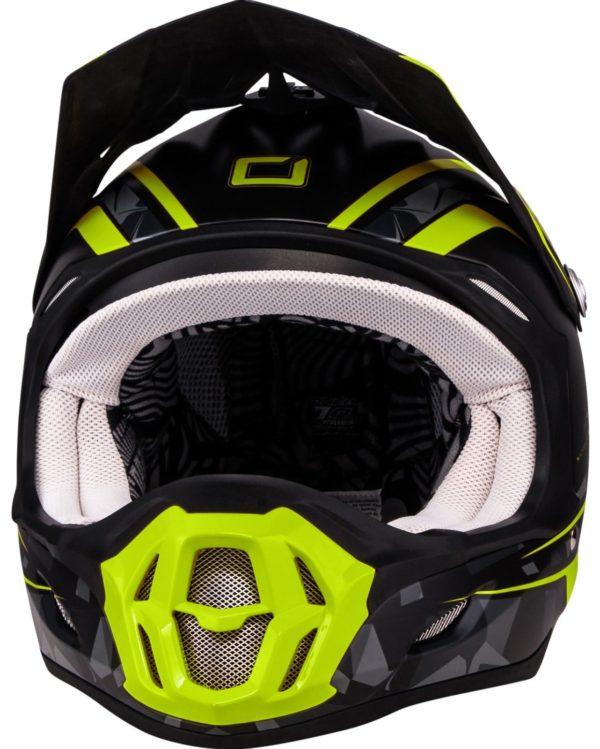 Кроссовый шлем 7Series CAMO серый/желтый фото 2