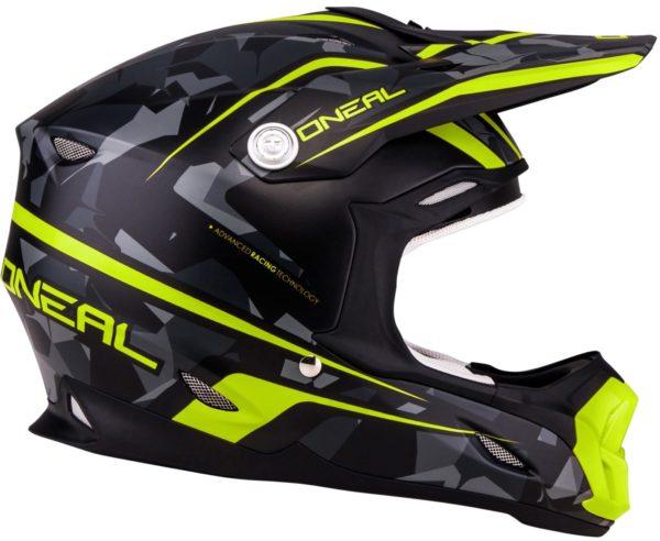 Кроссовый шлем 7Series CAMO серый/желтый фото 3