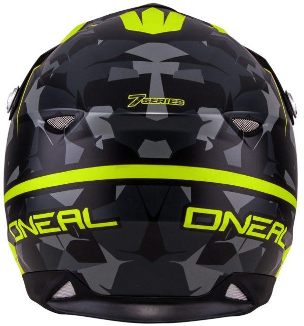 Кроссовый шлем 7Series CAMO серый/желтый фото 4