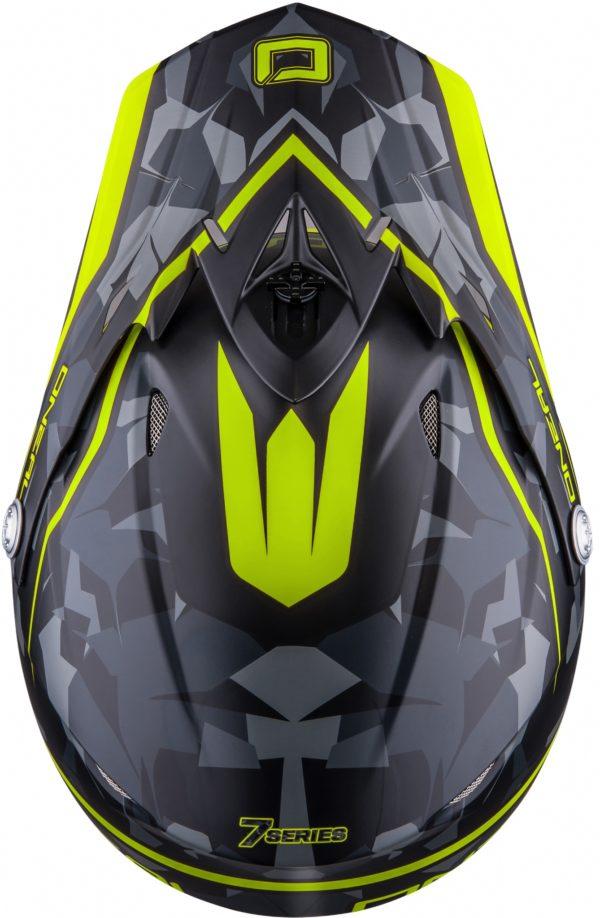 Кроссовый шлем 7Series CAMO серый/желтый фото 5