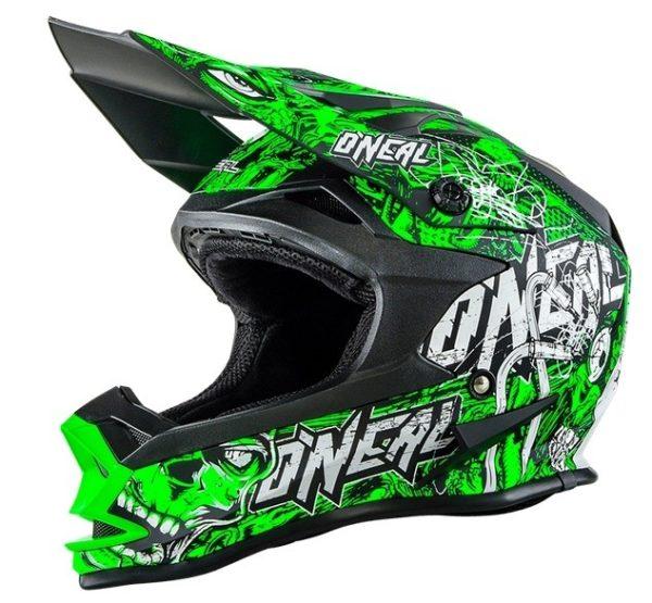 Кроссовый шлем 7Series Evo MENACE зеленый неон фото 1