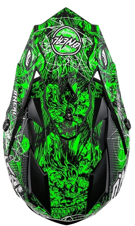 Кроссовый шлем 7Series Evo MENACE зеленый неон фото 2
