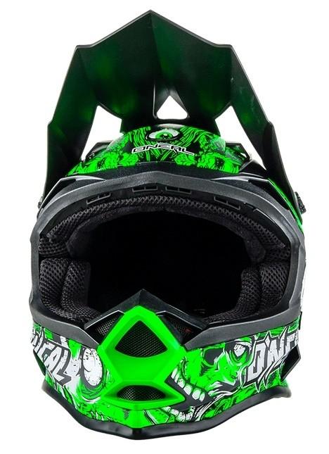Кроссовый шлем 7Series Evo MENACE зеленый неон фото 3