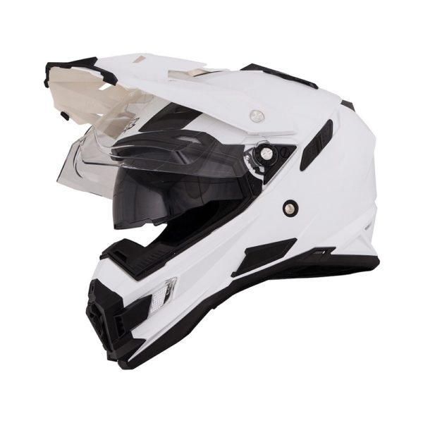 Кроссовый шлем SIERRA ADVENTURE PLAIN белый фото 1